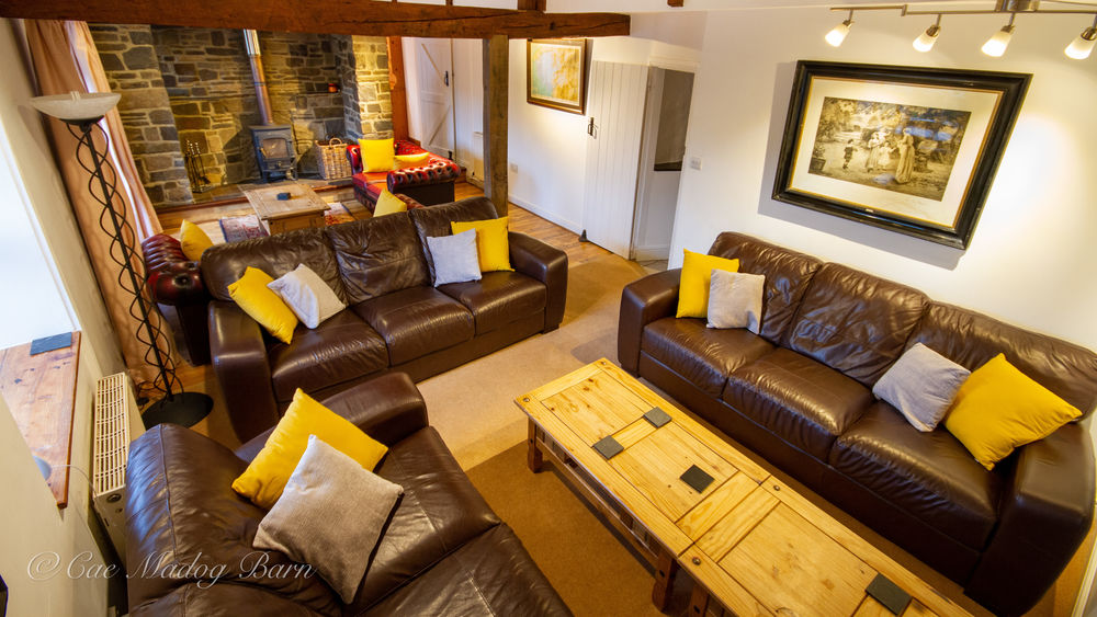 Cae Madog Barn family and group holiday accommodation with heated pool